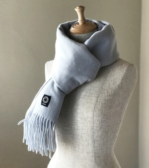 カシミヤスマフラー【 Pure cashmere  muffler  Angel Blue 】