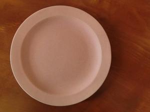 益子焼 よしざわ窯 ピンク ラウンドリム 6寸皿