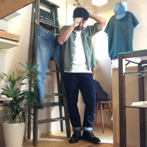 "Barns Outfitters ""PLAIN DENIM(スリムテーパード)"""