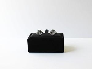 博多織カフスボタン 博多献上 黒 箱付き (caf-01)