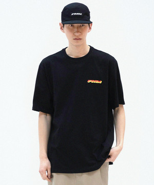 FMK SLOGAN GRAPHIC T-SHIRT Black