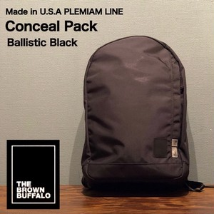 """THE BROWN BUFFALO """"Conceal Pack"""" Ballistic Black"""