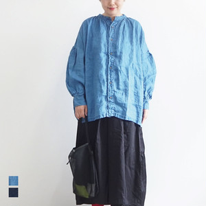 ICHIAntiquites イチアンティークス LINEN INDIGO BLEACH SHIRT リネンインディゴブリーチシャツ (品番600126)
