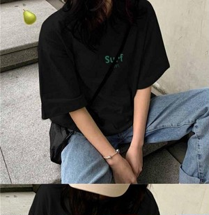 Lucky set A   SURFプリントゆるTシャツT1121
