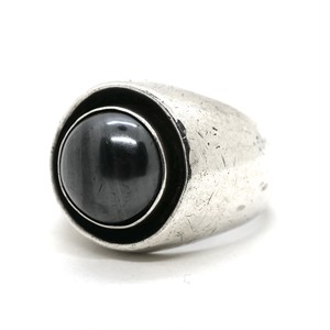 Vintage Sterling Silver Mexican Hematite Ring by David San Miguel