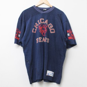 80's CHICAGO BEARS TEE 三色タグ    XL