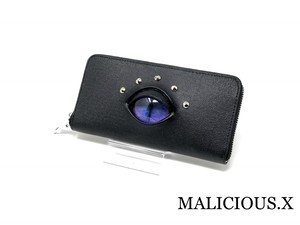 cat eye wallet / purple × blue