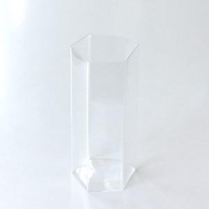 吉沼硝子 変形角柱グラス 中