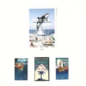 【Postcard +3 Stickers SET】''BLUE SEA I've SEEN''