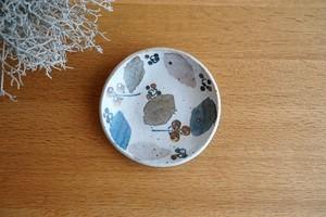 砥部焼/銘々皿(小)/木の葉/森陶房
