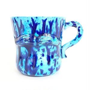 マーブル模様のヒゲマグカップ (SA101)