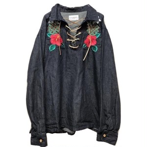blackweirdos / laceup denim shirts