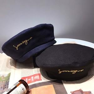 【お取り寄せ商品】英字刺繡ベレー帽 7175