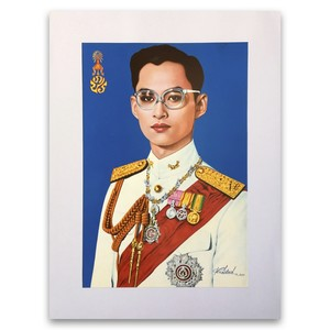 タイ国王の肖像画|Portrait Poster of King of Thailand