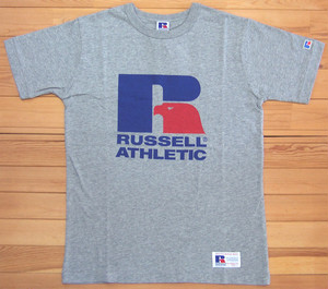 RUSSELL ATHLETIC Bookstore Jersey Print Crew Neck TEE グレー ラッセルアスレティック Tシャツ ロゴ プリント カットソー 半袖 RC-1001PT
