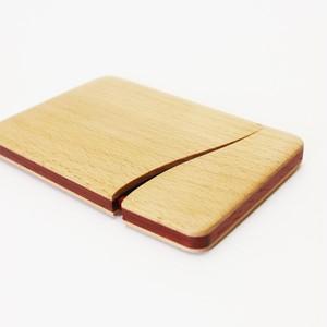 木製名刺入れ スリム (ブナ×パドウク)
