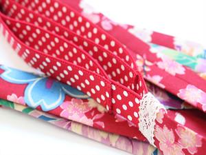 半幅帯が簡単に可愛く結べる便利アイテム|四重装~赤花の舞