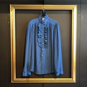blue frill blouse [B1665]