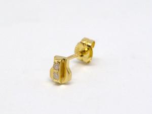 【予約商品】K18+DIAMONDS ZIPPER PIERCE(18金+ダイヤモンド ジッパー ピアス)