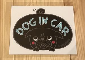 カーステッカー(DOG IN CAR)