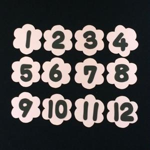 誕生表用の数字(1~12)の壁面装飾