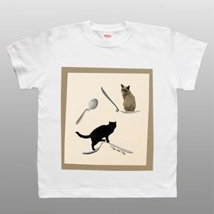 【SALE】 デザインTシャツ 猫 ネコ Psychic Cats