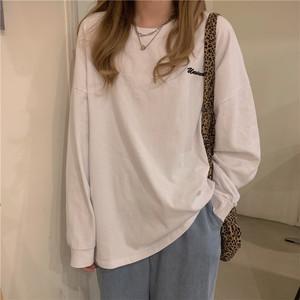 《即納》ワンポイント長袖Tシャツ