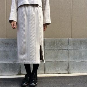 CLOCHE/ケーブル柄タイトスカート