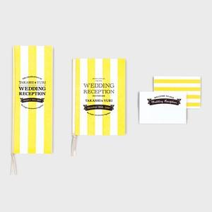 活版印刷の招待状・席次表・席札セット CANDY STRIPE  キャンディストライプ  70部セット
