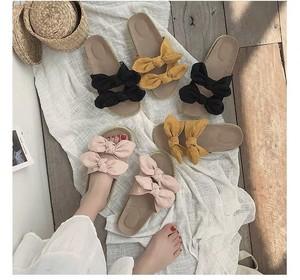 レディースファッション サンダル ペタンコ リボン 可愛い カジュアル お洒落 2019新作 トレンド 靴★04098