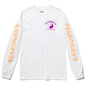 "SEASONING × GIONO L/S TEE ""CHINESE"" - WHITE"