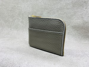 L-type mini wallet (soft shrink) Color: Greige