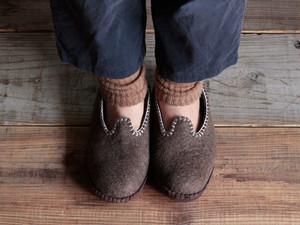 モンゴル羊毛のルームシューズ MUNAGE 22〜24cm