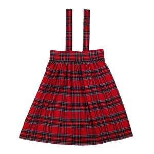 チェック吊りスカート