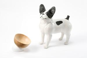 【 期間限定価格 】デザイン会社がつくった、フードボウル『moon』犬猫用 | ペットデザイン家具ブランド「a i u e o CASA」