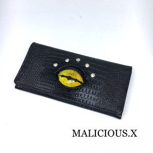 reptelis eye wallet / yellow(crocodile)
