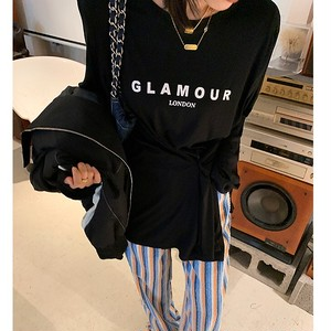 Glamourロングトップス(Grey,Black) 105