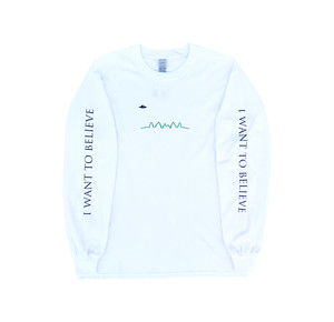 "CHEAP TIME$ ""I WANT TO BELIVE"" L/S Tee -White-"