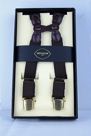 B&Tailor Suspender -Darkbrown サスペンダー