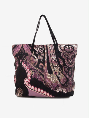 ETRO PAISLEY PRINTED LETHER TOTE BAG