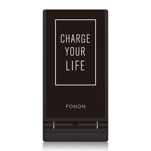 WIRELESS CHARGING STAND-TYPO SERIES-FONON CHARGE YOUR LIFE Black