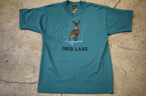 USED DEER LAKE T-shirt L  90s made in USA  T0185