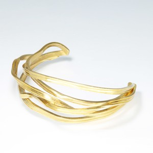 ribbon bangle (brass)