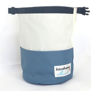 kazahanaグランドチョークバッグ  ナチュラル/ライトブルー/ブルー