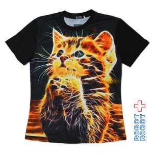 Tシャツ レディース 新品 TSHIRT NEW Galaxy Space Cyber Cat