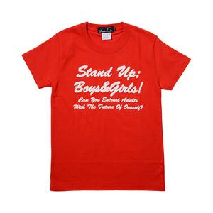 インディーズデザインTシャツ「Stand Up Boys&Girls」 レディスTシャツ