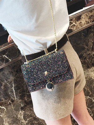 【accessories】Popular chain shining sequins shoulder bag