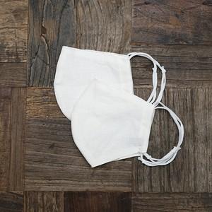 NEW! 究極のオーガニックマスク 100%天然素材 シルク×コットン×リネン (無染色ナチュラルホワイト2枚セット)
