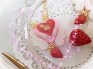 【Ringo Nyago】苺エンジェルクッキー ネックレス i0602117