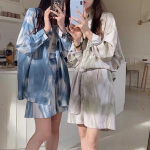 【セット】「単品注文」ファッション新作プリント長袖合わせやすいシャツ+ショートパンツ33014249